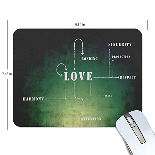 Personalized Mouse Pad Large Rectangle Gaming Mouse Pad Style Rubber Mousepad with Love Meaning in 9.84