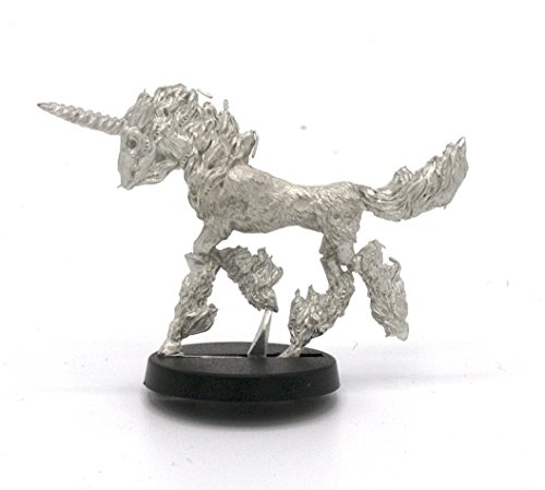 Stonehaven Flaming Undead Unicorn Miniature Figure (for 28mm Scale Table Top War Games) - Made in USA ()