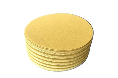 (6 Inch Gold Hook and Loop Grip Sanding Discs (100 Pack, 80 Grit))