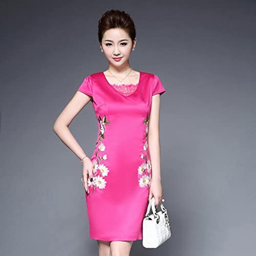 Solid Round Neck Long Sleeves JIALELE Womens Going Out Casual Sheath Knee-Length Dress