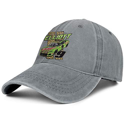 NIANLJHDe Unisex ManDurable Dad Hat Washed Chase-Elliott-2019-MTN-Dew-NASCAR-9- Yard Work Baseball Hat -