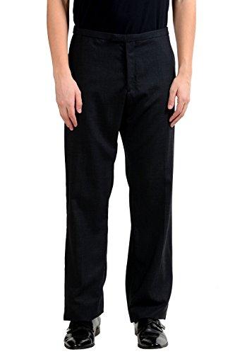 Cnc Costumes National Dresses (C'N'C Costume National Men's Gray 100% Wool Flat Front Dress Pants US 40 IT 56)