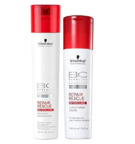 Schwarzkopf Bonacure Repair Shampoo - Schwarzkopf Bonacure Repair Rescue Shampoo 8.5oz and Conditioner 6.8oz Set