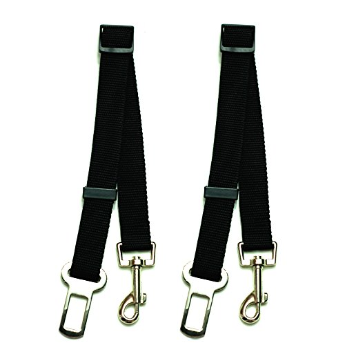 NAC&ZAC 2 Pack Adjustable Pet Seat Belt, Car Safety Harness for Pets