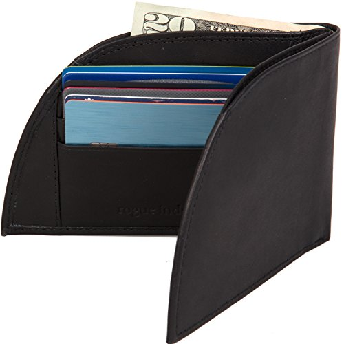 Front Pocket Wallet by Rogue Industries - Classic Wallet in Genuine Top Grain Leather - Black made in Maine