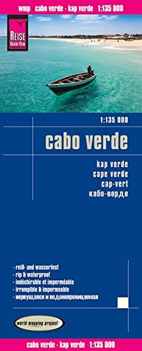 Cape Verde/Cabo Verde Travel Map - 1:135,000 (English, Spanish, French, German and Russian Edition)