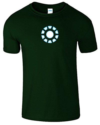 """SNS Online Forest Grün - S - Brustumfang : 34"""" - 36"""" - Iron Man Arc Reactor Frauen Der Männer Damen Unisex T Shirt"""