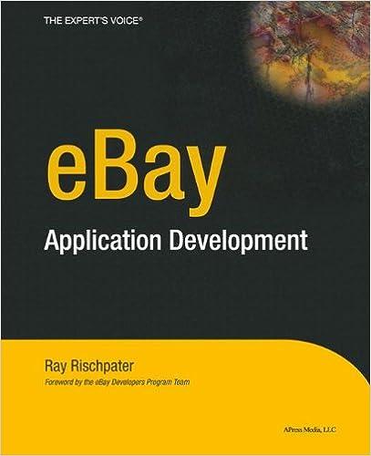 eBay Application Development Softcover reprint of the original 1st ed. Edition