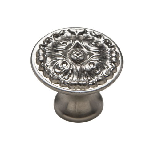 Door Knobs Cast (Knobware K-5073/45/ZN3/MN 1-1/8-Inch Muted Nickel French Gothic Knob)