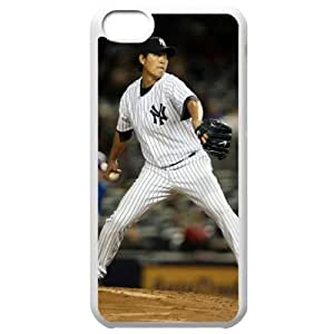 MLB Iphone 5C White New York Yankees cell phone cases&Gift Holiday&Christmas Gifts NBGH6C9125825