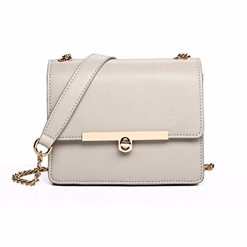 Modekette Tasche Messenger Bag mini square Bag Umhängetasche, grau Grau