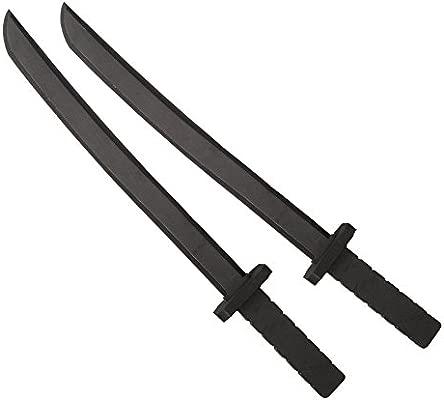 Katara 1771 - Juego de 2 Espadas de Espuma Gomaespuma Ninja 55cm de Largo, Negro