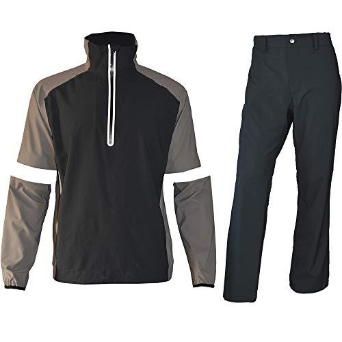 Men's Weatherproof Golf Jacket and Pants for All Sports Rain Suit (Gray Half-Zip, Medium)