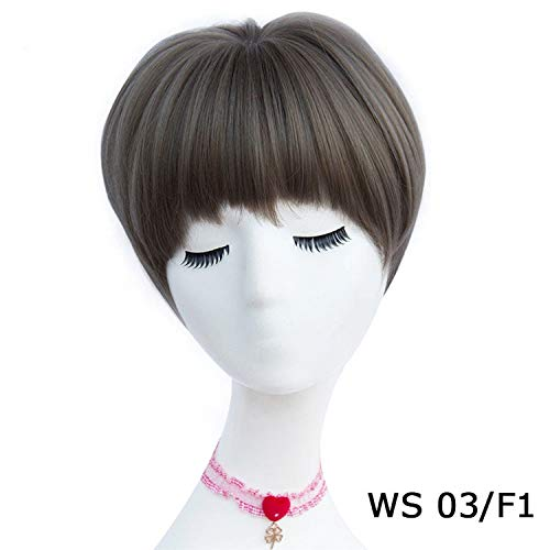 Wigs Womens Brown Black Blonde Natural Hair Wigs Female Heat Resistant Fiber,AS 03 F1,14inches ()