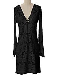 Hale Bob Queen Bee Butterfly Lace Dress - Black