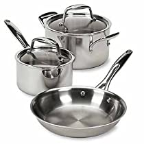 Pampered Chef Stainless Cookware 5 Piece Set #2878