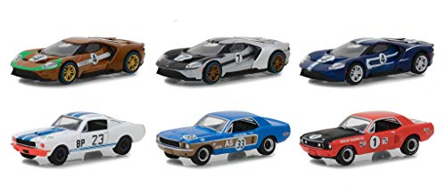 Ford Racing Heritage Series 2, Set of 6 Cars 1/64 Diecast Models by Greenlight 13220