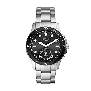 Fossil Men's FB-01 Stainless Steel Hybrid Smartwatch, Color: Silver/Black Dial (Model: FTW1197)