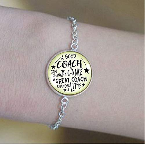(Basketball Coaching Keychain A Great Coach Changes A Life Quote Thank You Key Ring Appreciation Gifts for Men Women. Bracelets -Positive Message JewelrySoul Clean and My)