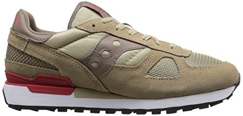 Saucony Originals Hombres Shadow Original Sneaker Beige / Red