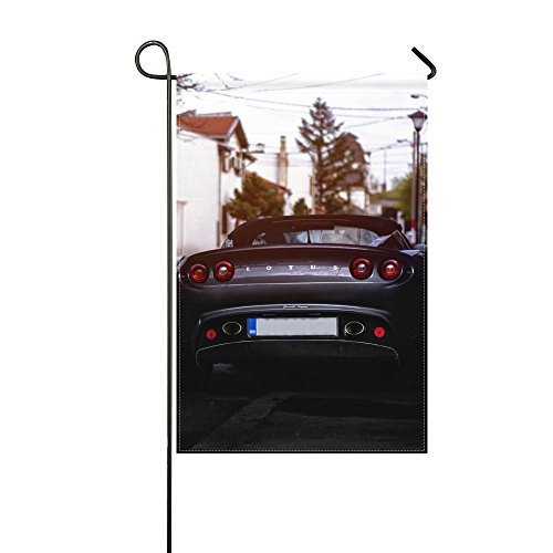 Fenda Garden Flag lotus rear view auto 12x18 inches(Without Flagpole) (Lotus The Notes View)