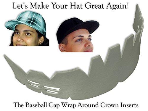 2Pk. Baseball Caps Wrap-Around Crown Inserts| Hat Shaper| Washing Aide| Storage