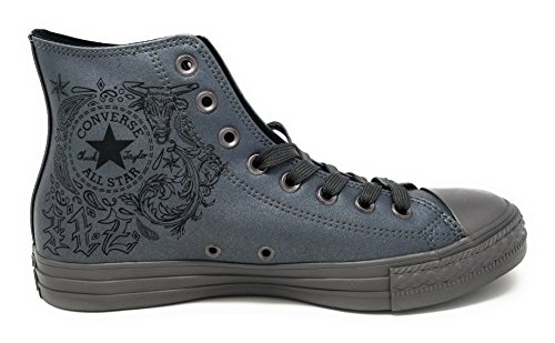 and Black Color Sneakers Durable Canvas Casual Classic Gunmetal Converse in Top Taylor Gunmetal High Chuck Unisex Uppers All and Style Star OwZ7Rq