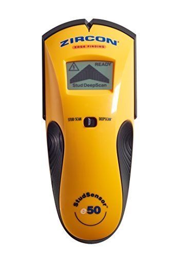 Zircon StudSensor e50 Electronic Wall Scanner / Edge Finding Stud Finder / Live AC WireWarning Detection ()