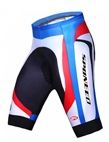 sponeed Men's Cycle Shorts Tights Cycle Pans Riding bottom Asian XL/US L Blue Multi