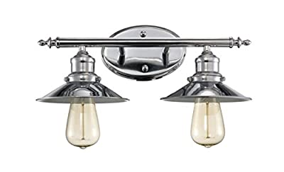 Trans Globe Lighting Griswald Indoor Polished Chrome Industrial Vanity Bar, 16""