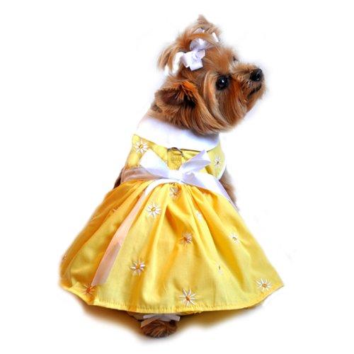 Yellow Daisy Harness Dress Medium