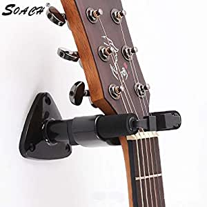 cushy guitar wall mount stand fits most bass accessories ukulele guitar wall bracket. Black Bedroom Furniture Sets. Home Design Ideas