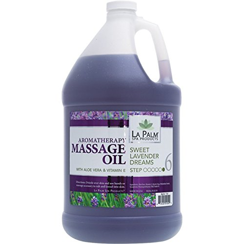 Aromatherapy Massage Oil Sweet Lavender Dreams - 1 Gallon by La Palm Spa Products
