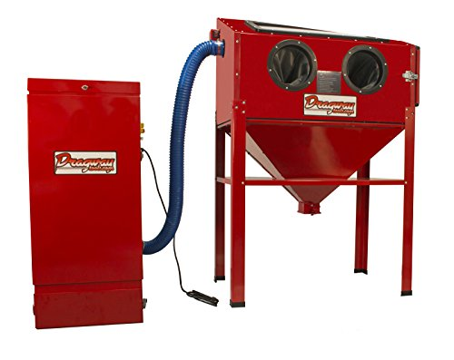Trigger Gun Sandblasting Cabinet (Dragway Tools Model 60 Sandblast Cabinet With Floor Standing Dust Collector)