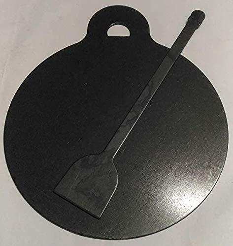 kgstore Iron Flat DOSA CHAPATI TAWA DOSA KALLU 1.5 KG with DOSA Turner 27 cm Diameter