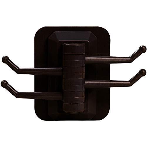 IEasⓄn Home Kitchen, 4- Link Hook in Rotary Kitchen Bathroom Wall Rack Towel Rack IE-NN20 (Coffee) by IEasⓄn (Image #3)