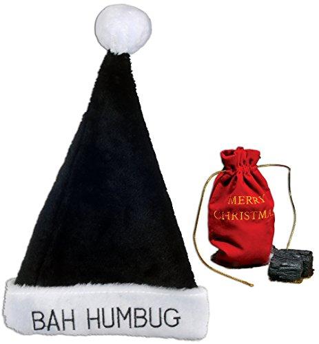 Bah Humbug Hat & Bag of Coal