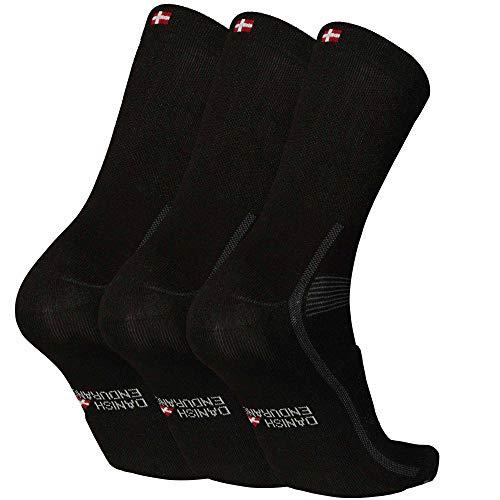 Cycling Socks for Men & Women, 3 Pack Regular Ankle Crew Breathable Bike Socks (Black, US Women 11-13 // US Men 9.5-12.5)