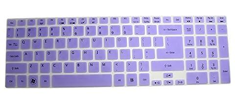 CaseBuy® Ultra Thin Silicone Keyboard Cover Protector Skin for Acer Aspire E1-510 E1-510P E5-511 E5-511P E5-521 E5-521G E1-522 E1-530 E5-531 E1-532 E1-532P E5-551 E5-551G E1-570 E5-571 E5-571G E5-571P E5-571PG E1-572 E1-572P E1-731 E1-771 E5-721 E5-731 E5-771 E5-771G V3-551 V3-551G V3-571 V3-571G V3-572 V3-572G V3-572P V3-572PG V3-731 V3-731G V3-771 V3-771G V3-772G V5-561 V5-561PG V5-561G V5-561P / Aspire V17 Nitro VN7-791G series US Layout (Aspire E5 511)