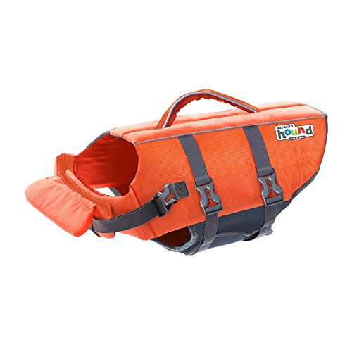 Outward Hound Kyjen 22019 Ripstop Dog Life Jacket Quick Release Easy-Fit Adjustable Dog Life Preserver, Small, Orange