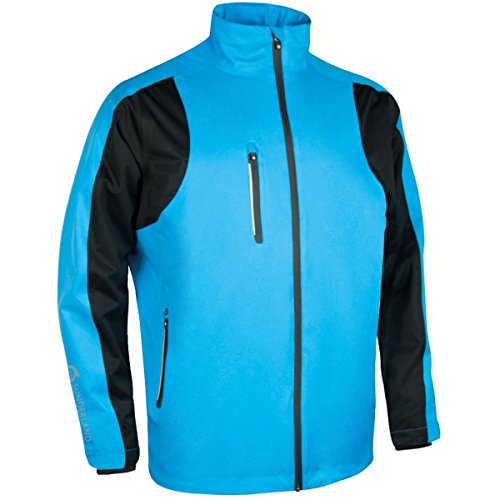 Sunderland Mens SUNMR28 Technical Performance Lightweight Waterproof Jacket Azure Blue/Black XL