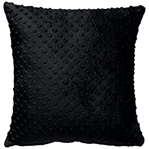 Baby Doll Bedding Heavenly Soft 2 Piece Crib Throw Pillow Cover, Black