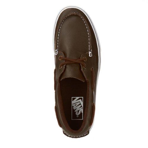 Vans - Zapatillas de cuero para mujer marrón - Walnut / True White