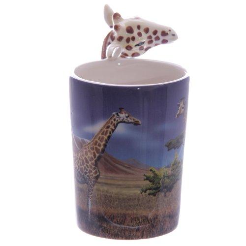 Ceramica Bianco Puckator Zoo Tazza con Manico a Forma di Giraffa