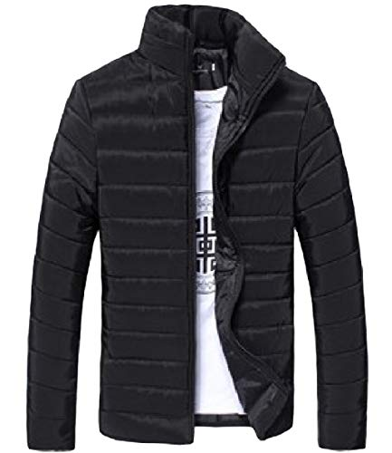 Black Stand Long Warm Colour Collar XINHEO Zip Thickened Mens Down Sleeve Parka Pure wxqnfEz7HY