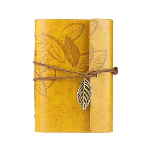 coromoser-vintage-leaf-leather-cover-loose-leaf-notebook-journal-diarybook-yellow