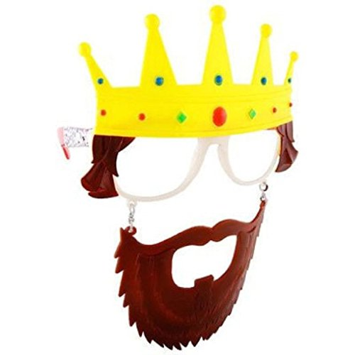 OvedcRay Hippie Rasta Pirate King Zombie Old Man Captain Costume Glasses Mask (Zombie Chimp Child Costumes)