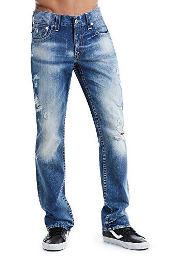 True Religion Mens Direct Arrow Straight Leg, 38, Blue