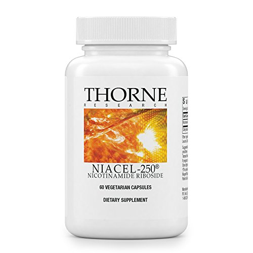 Thorne Research - NiaCel-250 - Nicotinamide Riboside Supplement with ChromaDex's Niagen - 60 Capsules by Thorne Research