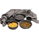 Texsport Black Ice Hard Anodized Mess Kit, Outdoor Stuffs